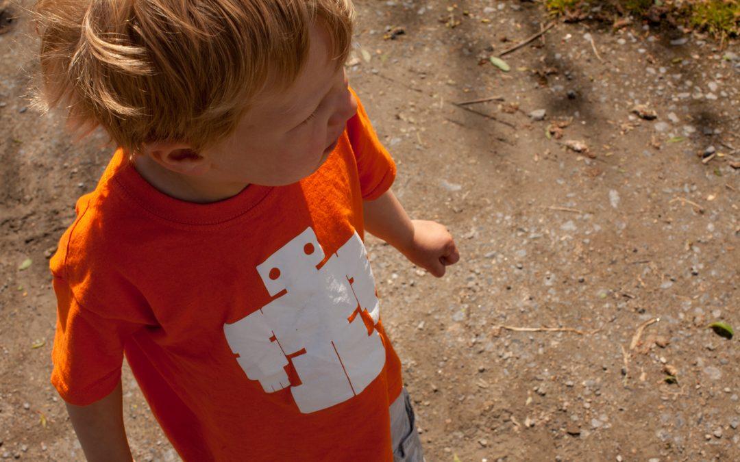 Spaceman orange teddybots t-shirt