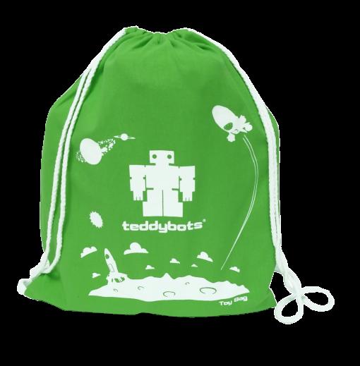 teddybots green toy bag
